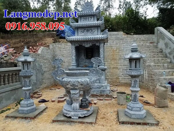 25 Mẫu lăng mộ đá nguyên khối cất để hài cốt bán tại Sài Gòn đẹp nhất hiện nay 03
