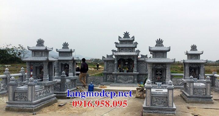 25 Mẫu lăng mộ đá xanh tự nhiên cất để hài cốt bán tại Sài Gòn đẹp nhất hiện nay 04
