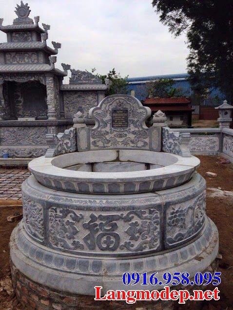 62 Mẫu mộ đá hình tròn xây đẹp nhất hiện nay bán toàn quốc 06
