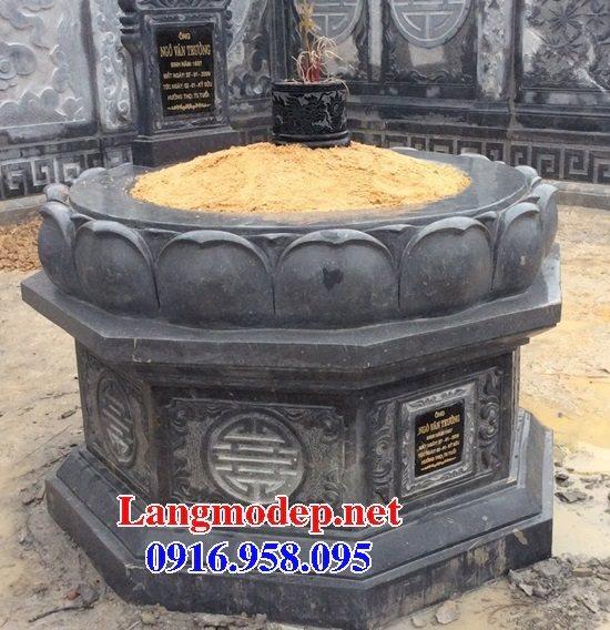 62 Mẫu mộ đá tròn đẹp nhất hiện nay bán toàn quốc kích thước phong thủy 04