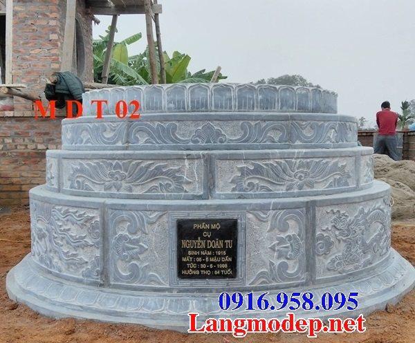 62 Mẫu mộ đá tròn đẹp nhất hiện nay bán toàn quốc thiết kế hiện đại 03