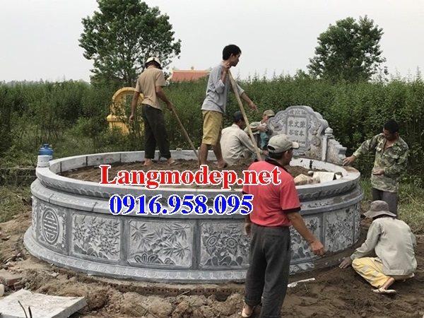 62 Mẫu mộ hình tròn bằng đá đẹp nhất hiện nay bán toàn quốc thiết kế hiện đại 09