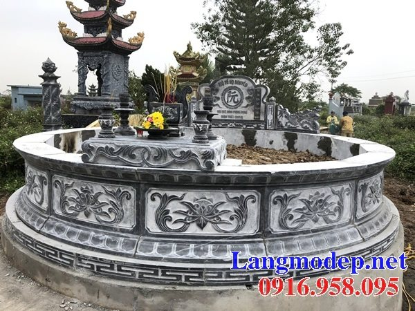 62 Mẫu mộ hình tròn xây bằng đá đẹp nhất hiện nay bán toàn quốc kích thước phong thủy 10
