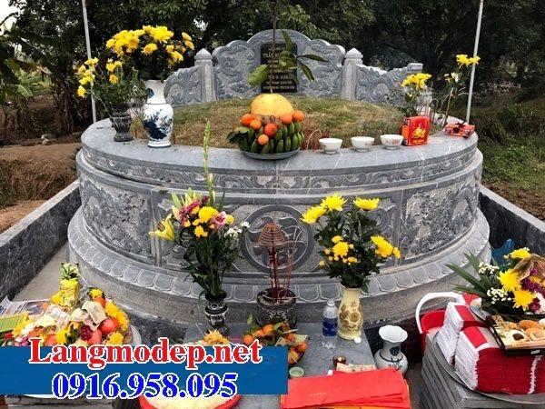 62 Mẫu mộ tròn bằng đá đẹp nhất hiện nay bán toàn quốc 12