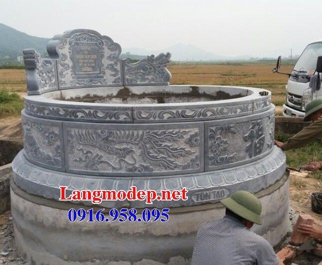 62 Mẫu mộ tròn bằng đá đẹp nhất hiện nay bán toàn quốc tại lạng sơn 22