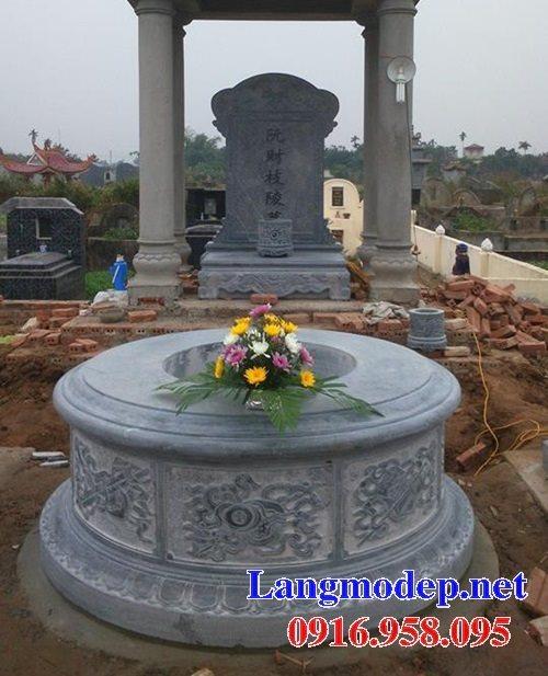 62 Mẫu mộ tròn bằng đá đẹp nhất hiện nay bán toàn quốc tại yên bái 39