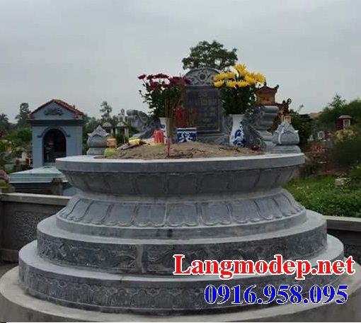 62 Mẫu mộ tròn bằng đá xanh đen đẹp nhất hiện nay bán toàn quốc 16