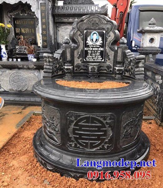 62 Mẫu mộ tròn bằng đá xanh nguyên khối đẹp nhất hiện nay bán toàn quốc 18