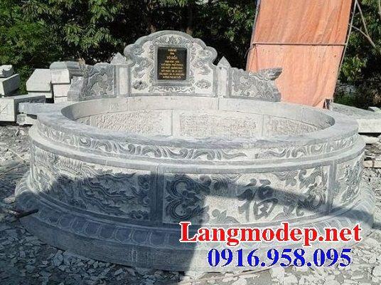 62 Mẫu mộ tròn bằng đá xanh tự nhiên đẹp nhất hiện nay bán toàn quốc 17