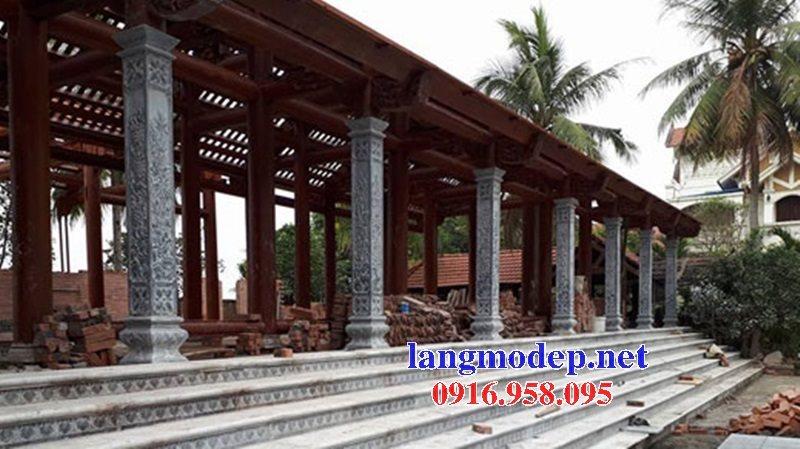 99 Mẫu cột đá nhà gỗ đền đình chùa đẹp nhất hiện nay 17