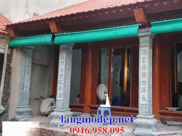 99 Mẫu cột đá nhà gỗ thờ họ từ đường đẹp nhất hiện nay 18