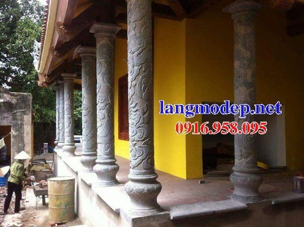 99 Mẫu cột đá nhà thờ họ từ đường đình chùa đẹp nhất hiện nay bán quảng ninh 110