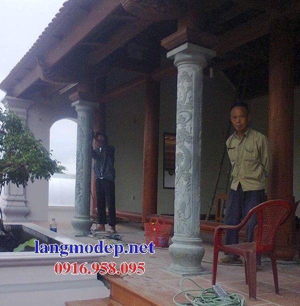 99 Mẫu cột đá nhà thờ họ từ đường đình chùa đẹp nhất hiện nay bán tại bình thuận 139