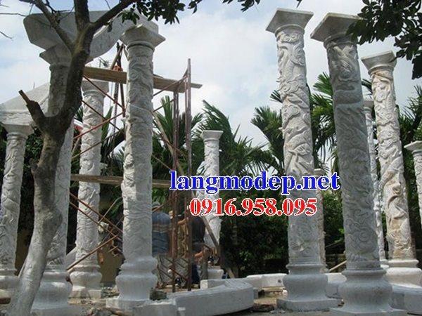 99 Mẫu cột đá nhà thờ họ từ đường đình chùa đẹp nhất hiện nay bán tại lâm đồng 135