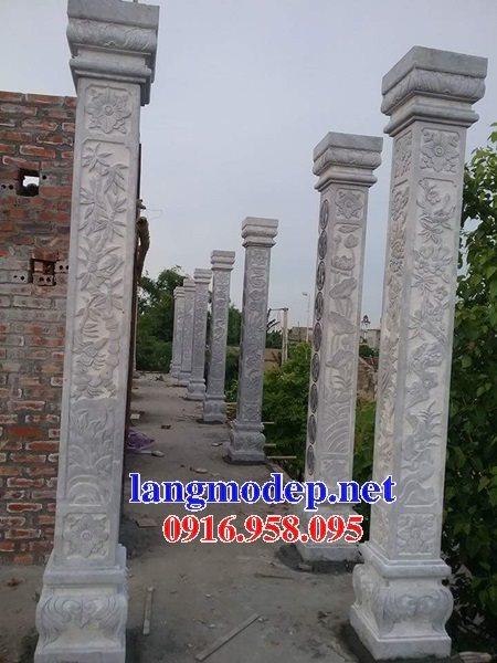 99 Mẫu cột đá nhà thờ họ từ đường đình chùa đẹp nhất hiện nay bán tại ninh thuận 138