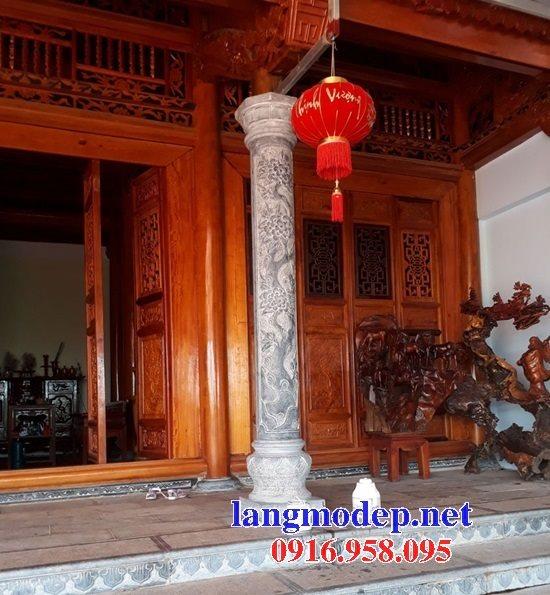99 Mẫu cột đá nhà thờ họ từ đường đình chùa đẹp nhất hiện nay bán tại tiền giang 154