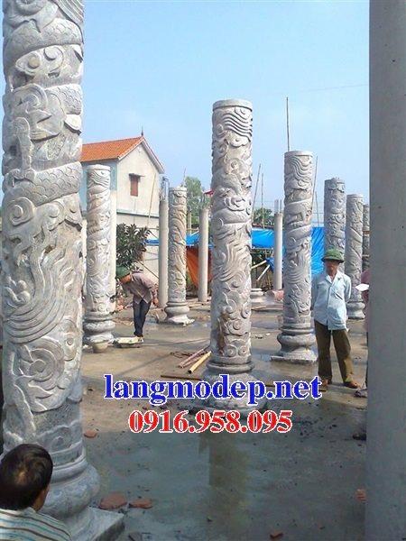 99 Mẫu cột đá tròn nhà gỗ đình chùa đẹp nhất hiện nay 11