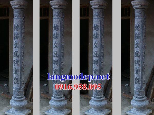 99 Mẫu cột đá tròn nhà thờ gia tộc đẹp nhất hiện nay 13