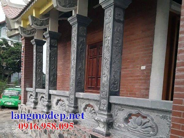 99 Mẫu cột đá vuông lan can nhà gỗ đền chùa đỉnh đẹp nhất hiện nay 23