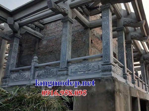 99 Mẫu cột đá vuông lan can nhà gỗ đền chùa đỉnh đẹp nhất hiện nay 24