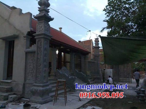 99 Mẫu cột đồng trụ đá bậc đá lát nhà thờ họ từ đường bằng đá đẹp bán tại long an 87