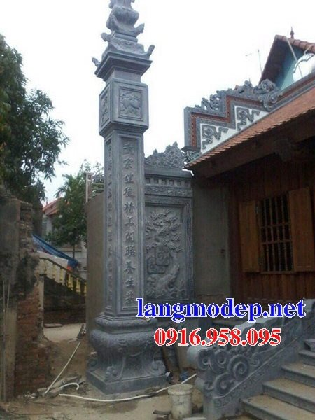 99 Mẫu cột đồng trụ đá bậc đá lát nhà thờ họ từ đường bằng đá đẹp bán tại thái bình 53