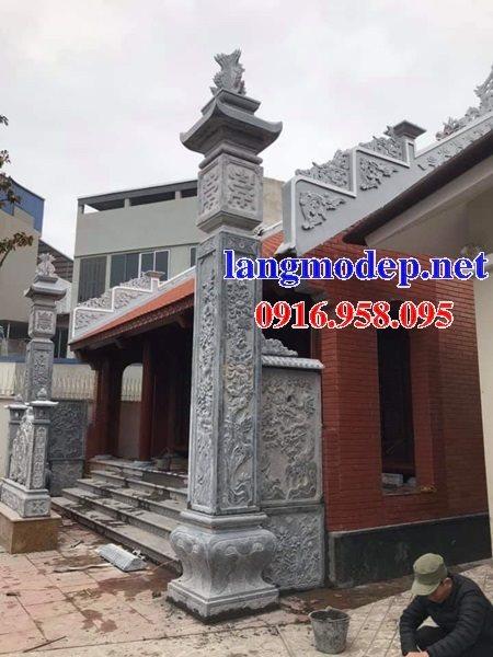 99 Mẫu cột đồng trụ đèn đình đền chùa miếu bằng đá đẹp nhất hiện nay 42