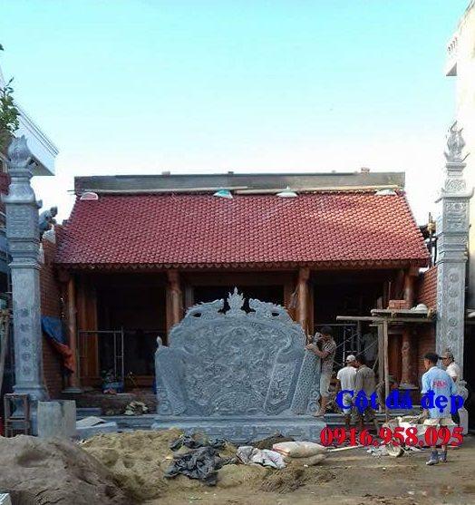 99 Mẫu cột đồng trụ bậc thềm lát sân nhà thờ họ từ đường bằng đá đẹp bán tại bạc liêu 91