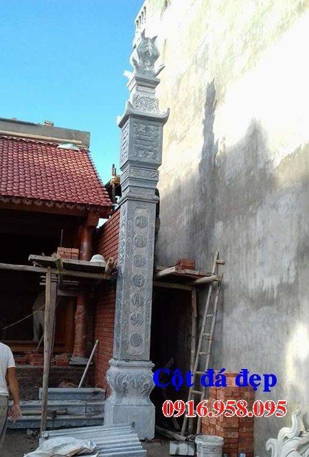 99 Mẫu cột đồng trụ bậc thềm lát sân nhà thờ họ từ đường bằng đá đẹp bán tại cần thơ 90