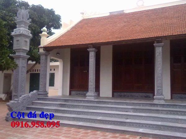 99 Mẫu cột đồng trụ bậc thềm lát sân nhà thờ họ từ đường bằng đá đẹp bán tại gia lai 89