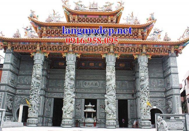 99 Mẫu cột tròn đình đền chùa miếu bằng đá xanh thanh hóa đẹp nhất hiện nay 37