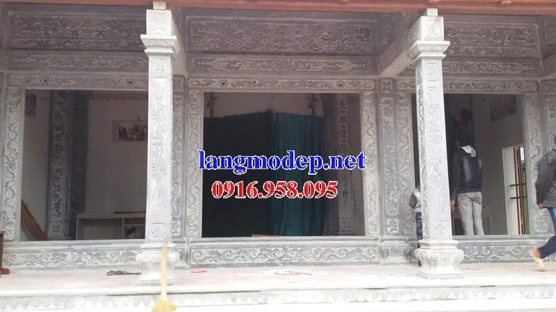 99 Mẫu cột vuông đình đền chùa miếu bằng đá đẹp nhất hiện nay 38