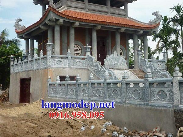 99 Mẫu cột vuông lan can tường rào đình đền chùa miếu bằng đá đẹp nhất hiện nay 41