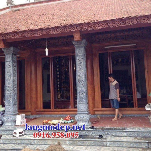 99 Mẫu cột vuông nhà gỗ bằng đá xanh nguyên khối đẹp nhất hiện nay 28