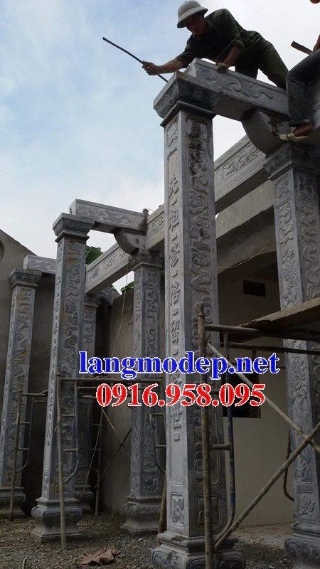 99 Mẫu cột vuông nhà thờ họ từ đường bằng đá nguyên khối đẹp nhất hiện nay 34