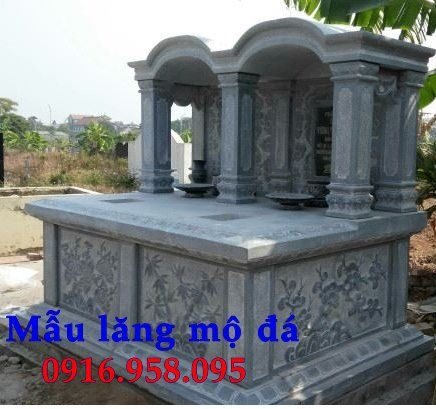 Bán báo giá mẫu mộ đá đôi gia đình một mái đẹp nhất hiện nay toàn quốc thiết kế hiện đại 09