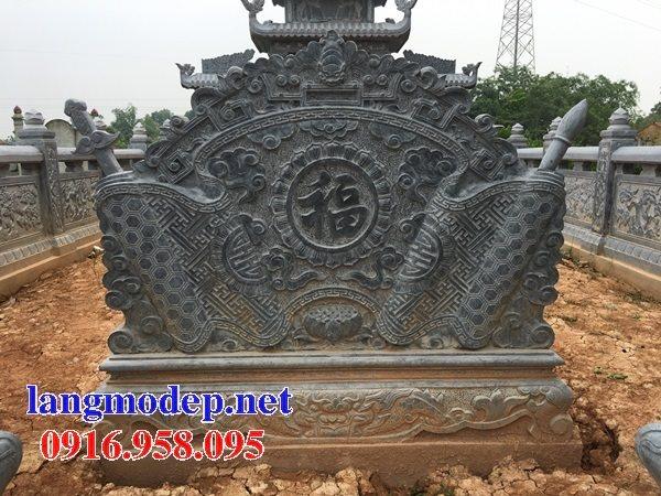 Bức bình phong lăng mộ dòng họ gia tộc bằng đá đẹp nhất hiện nay bán toàn quốc 05