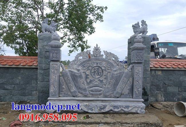 Bức bình phong lăng mộ gia tộc bằng đá đẹp