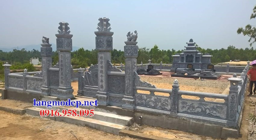 Bức bình phong lăng mộ gia tộc gia đình bằng đá đẹp nhất hiện nay 10