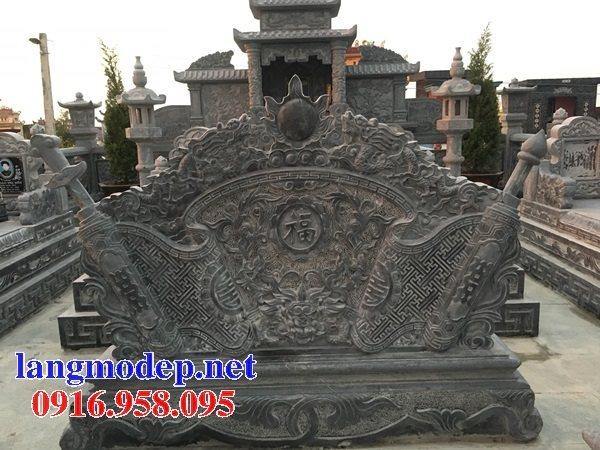 Bức bình phong lăng mộ gia tộc tổ tiên bằng đá đẹp nhất hiện nay thiết kế hiện đại 07