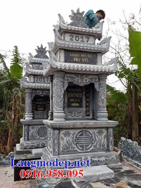 Lăng mộ đá khối đẹp nhất hiện nay cất để hài cốt bán tại Long An 02