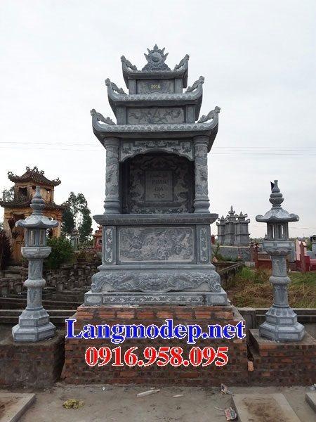 Mẫu Lăng mộ đá khối đẹp nhất hiện nay cất để hài cốt tro cốt bán tại Long An Đồng Nai 08