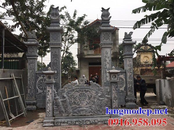 Mẫu bức bình phong đá cổng nhà thờ gia tiên dòng họ đẹp nhất hiện nay bán toàn quốc 05