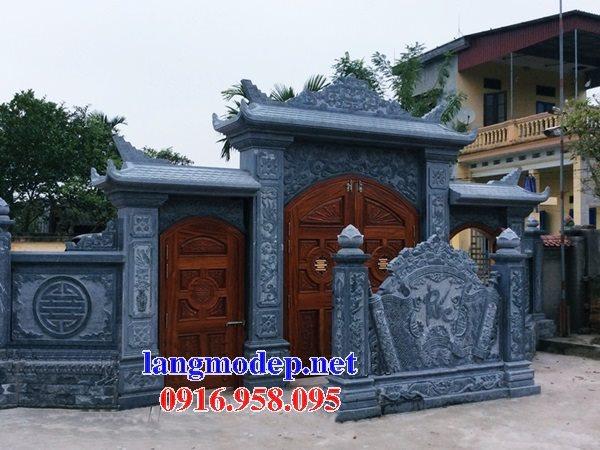 Mẫu bức bình phong đá cổng nhà thờ gia tiên dòng tộc đẹp nhất hiện nay thiết kế hiện đại 07