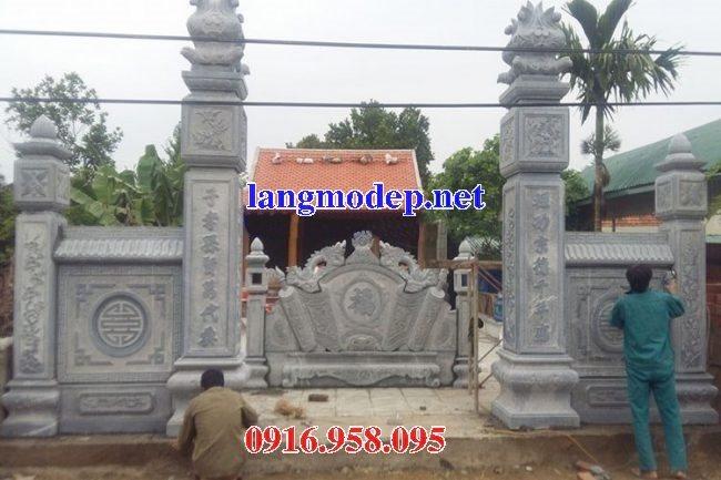Mẫu bức bình phong đá cổng nhà thờ tổ gia tiên đẹp nhất hiện nay bán toàn quốc 09
