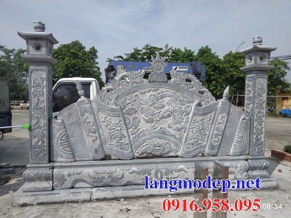 Mẫu bức bình phong đá cổng nhà thờ tổ gia tiên gia đình đẹp nhất hiện nay bán toàn quốc 10