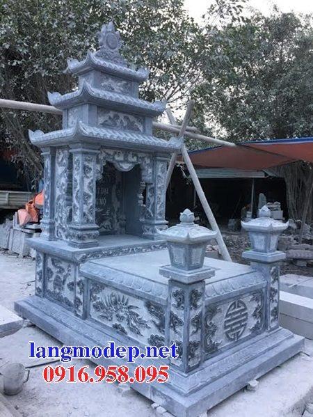 15 Mẫu mộ đá ba tầng mái đao đẹp bán lắp đặt toàn quốc