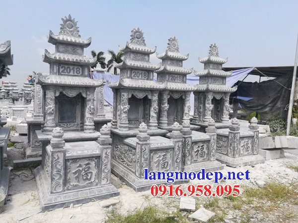 15 Mẫu mộ đá ba tầng mái đao đẹp bán tại hòa bình