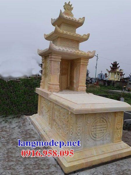 15 Mẫu mộ đá ba tầng mái đao đẹp bán tại lào cai