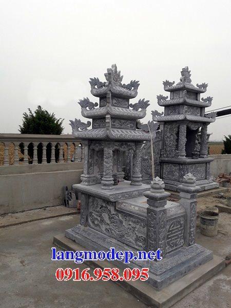 15 Mẫu mộ đá ba tầng mái đao đẹp bán tại lai châu